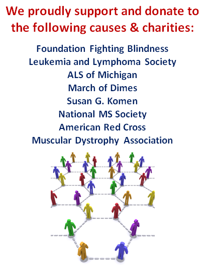 We support these charities!